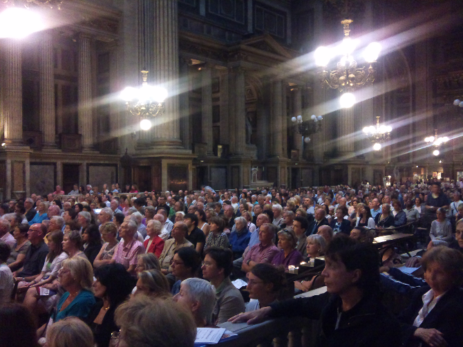 Audience at  La Madelaine Concert July 2011